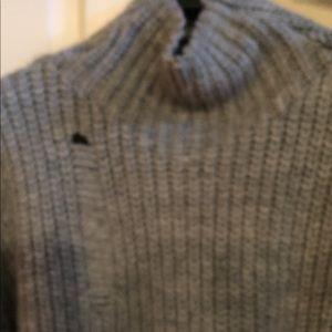 Zara Knit size M.  Cropped distressed sweater